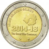 Belgium, 2 Euro, The Great War Centenary, 2014, MS(63), Bi-Metallic