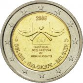 Belgium, 2 Euro, Human Rights, 2008, MS(63), Bi-Metallic, KM:248