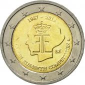 Belgium, 2 Euro, Queen Elizabeth, 2012, MS(63), Bi-Metallic