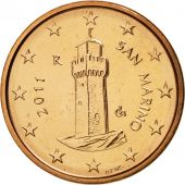 San Marino, Euro Cent, 2011, FDC, Copper Plated Steel, KM:440