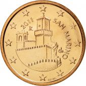 San Marino, 5 Euro Cent, 2011, FDC, Copper Plated Steel, KM:442
