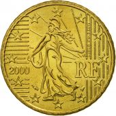 France, 50 Euro Cent, 2000, SPL, Laiton, KM:1287