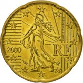 France, 20 Euro Cent, 2000, SPL, Laiton, KM:1286