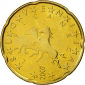 Slovenia, 20 Euro Cent, 2007, MS(63), Brass, KM:72