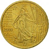 Coin, France, 10 Euro Cent, 2000, MS(63), Brass, KM:1285