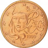 France, 2 Euro Cent, 1999, SPL, Copper Plated Steel, KM:1283