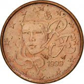 France, Euro Cent, 1999, SUP, Copper Plated Steel, KM:1282