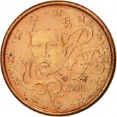 France, Euro Cent, 2000, SUP, Copper Plated Steel, KM:1282