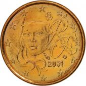 France, Euro Cent, 2001, SUP, Copper Plated Steel, KM:1282