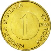 Slovenia, Tolar, 2000, MS(63), Nickel-brass, KM:4