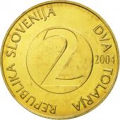 Slovenia, 2 Tolarja, 2004, MS(63), Nickel-brass, KM:5