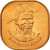 Swaziland, Sobhuza II, 2 Cents, 1982, British Royal Mint, FDC, Bronze, KM:8