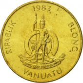 Vanuatu, 2 Vatu, 1983, British Royal Mint, FDC, Nickel-brass, KM:4