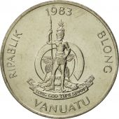 Vanuatu, 20 Vatu, 1983, British Royal Mint, FDC, Copper-nickel, KM:7
