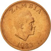 Zambia, Ngwee, 1983, British Royal Mint, MS(63), Copper Clad Steel, KM:9a