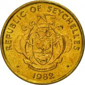 Seychelles, 5 Cents, 1982, British Royal Mint, MS(65-70), Brass, KM:47.1