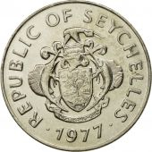 Seychelles, Rupee, 1977, British Royal Mint, MS(65-70), Copper-nickel, KM:35
