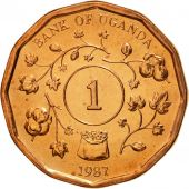 Uganda, Shilling, 1987, MS(65-70), Copper Plated Steel, KM:27