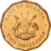 Uganda, 2 Shillings, 1987, MS(65-70), Copper Plated Steel, KM:28