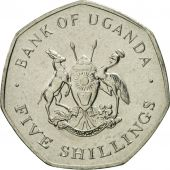 Uganda, 5 Shillings, 1987, FDC, Nickel plated steel, KM:29