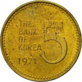 KOREA-SOUTH, 5 Won, 1971, SUP, Laiton, KM:5a