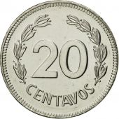 Ecuador, 20 Centavos, 1981, MS(65-70), Nickel plated steel, KM:77.2a
