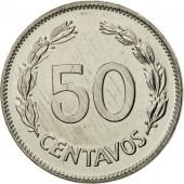 Ecuador, 50 Centavos, Cincuenta, 1985, MS(65-70), Nickel Clad Steel, KM:87