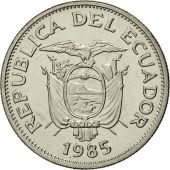 Ecuador, Sucre, Un, 1985, MS(65-70), Nickel Clad Steel, KM:85.1