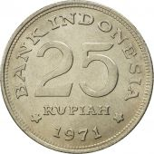 Indonesia, 25 Rupiah, 1971, MS(65-70), Copper-nickel, KM:34