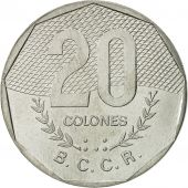 Costa Rica, 20 Colones, 1983, FDC, Stainless Steel, KM:216.1