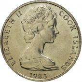 Îles Cook, Elizabeth II, 5 Cents, 1983, Franklin Mint, FDC, Copper-nickel, KM:3