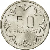 États de lAfrique centrale, 50 Francs, 1982, Paris, FDC, Nickel, KM:11