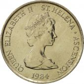 SAINT HELENA & ASCENSION, Elizabeth II, 5 Pence, 1984, British Royal Mint, FDC