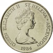SAINT HELENA & ASCENSION, Elizabeth II, 10 Pence, 1984, British Royal Mint, FDC