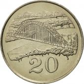 Zimbabwe, 20 Cents, 1983, MS(65-70), Copper-nickel, KM:4