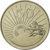 Zimbabwe, 50 Cents, 1980, MS(65-70), Copper-nickel, KM:5