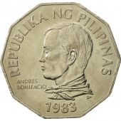 Philippines, 2 Piso, 1983, FDC, Copper-nickel, KM:244