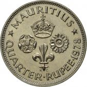 Mauritius, Elizabeth II, 1/4 Rupee, 1978, MS(65-70), Copper-nickel, KM:36