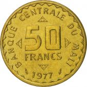 Mali, 50 Francs, 1977, Paris, FDC, Nickel-brass, KM:9