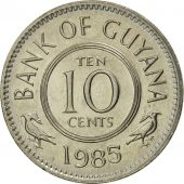 Guyana, 10 Cents, 1985, FDC, Copper-nickel, KM:33
