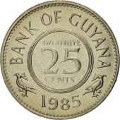 Guyana, 25 Cents, 1985, FDC, Copper-nickel, KM:34