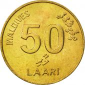 MALDIVE ISLANDS, 50 Laari, 1984, FDC, Nickel-brass, KM:72