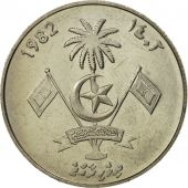 MALDIVE ISLANDS, Rufiyaa, 1982, SPL, Copper-Nickel Clad Steel, KM:73