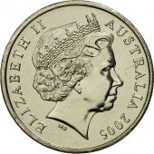 Australia, Elizabeth II, 5 Cents, 2005, MS(65-70), Copper-nickel, KM:401