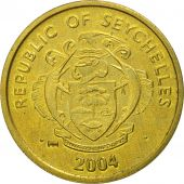 Seychelles, Cent, 2004, British Royal Mint, MS(65-70), Brass, KM:46.2