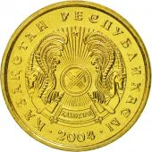 Kazakhstan, Tenge, 2004, Kazakhstan Mint, MS(65-70), Nickel-brass, KM:23