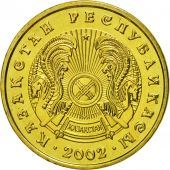 Kazakhstan, 5 Tenge, 2002, Kazakhstan Mint, MS(65-70), Nickel-brass, KM:24