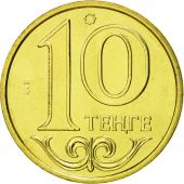 Kazakhstan, 10 Tenge, 2002, Kazakhstan Mint, MS(65-70), Nickel-brass, KM:25