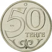 Kazakhstan, 50 Tenge, 2002, Kazakhstan Mint, MS(65-70), Copper-Nickel-Zinc
