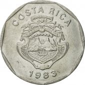 Coin, Costa Rica, 20 Colones, 1983, MS(65-70), Stainless Steel, KM:216.1